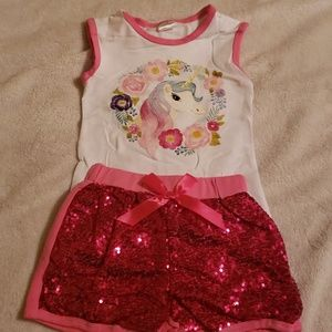 Other - SEQUENCE SHORTS AND UNICORN TOP SET